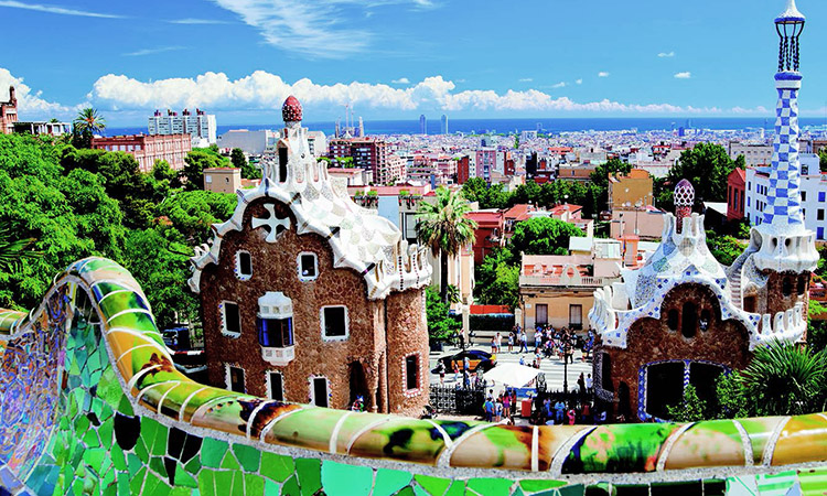 Park Guell, one of Barcelona's UNESCO World Heritage sites