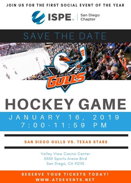 Ispe Sd San Diego Gulls Hockey Game Social San Diego Chapter