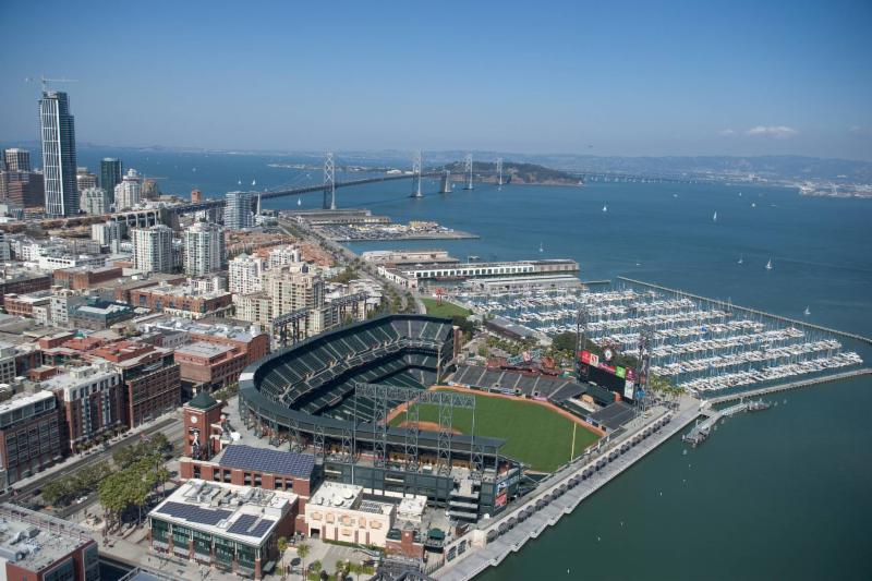 Oracle Park Aerial View