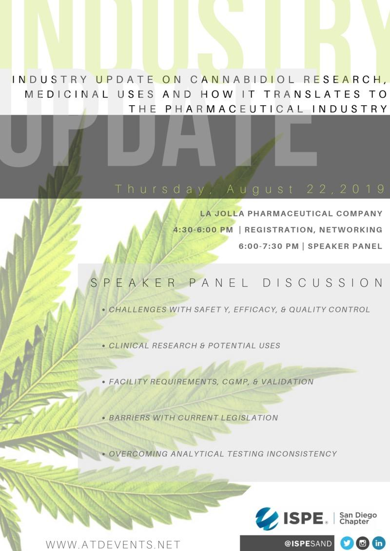 Industry Update on Cannabidiol Research | San Diego Chapter