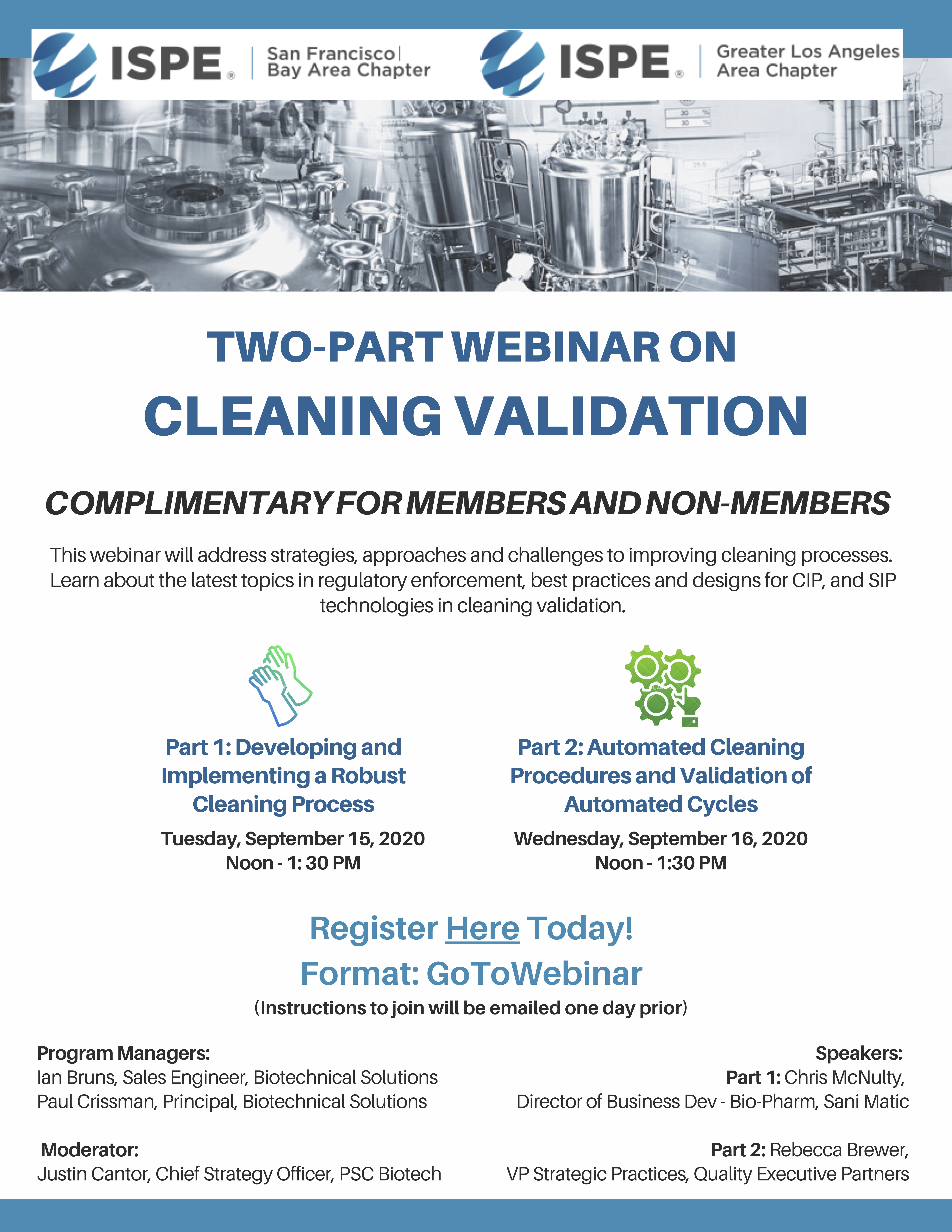 ISPE SF 9-15-20 and 9-15-20 Webinar Info Graphic