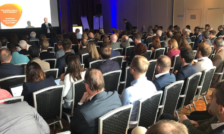 Plenary session at the 2019 ISPE Europe Biotechnology Conference in Brussels in September 2019.