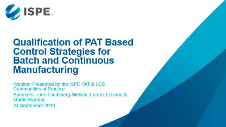 Qualification of PAT Based Control Strategies for Batch and Continuous Manufacturing