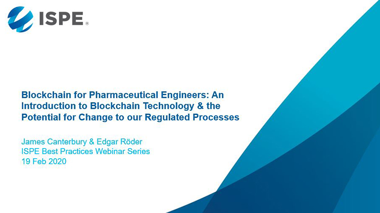 Blockchain for Pharmaceutical Engineers