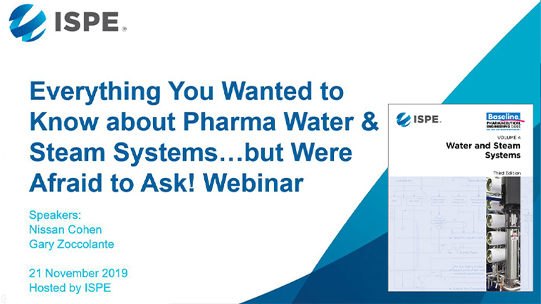 Everything You Ever Wanted to Know about Pharma Water & Steam Systems…but Were Afraid to Ask!