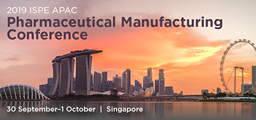 2019 ISPE Asia Pacific Pharmaceutical Manufacturing Conference Singapore