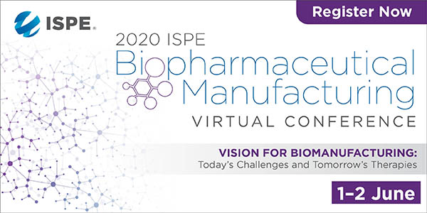 2020 ISPE Biopharmaceutical Manufacturing Conference