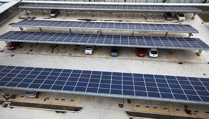 Wyeth Company - Parking Lot Canopy with Solar Panels