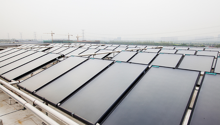 Wyeth Company - Roof with Solar Panels