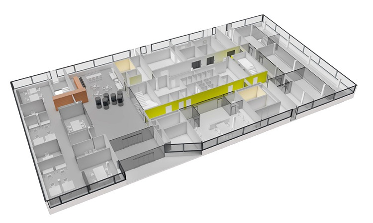 The ground floor of B098 features spacious office - F. Hoffmann-La Roche Ltd