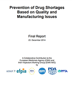 Prevention of Drug Shortages Quality Manufacturing Issues Cover