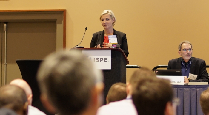Conference crowd speaker banner - ISPE Pharmaceutical Engineering