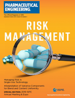 Pharmaceutical Engineering September / October 2019 Cover