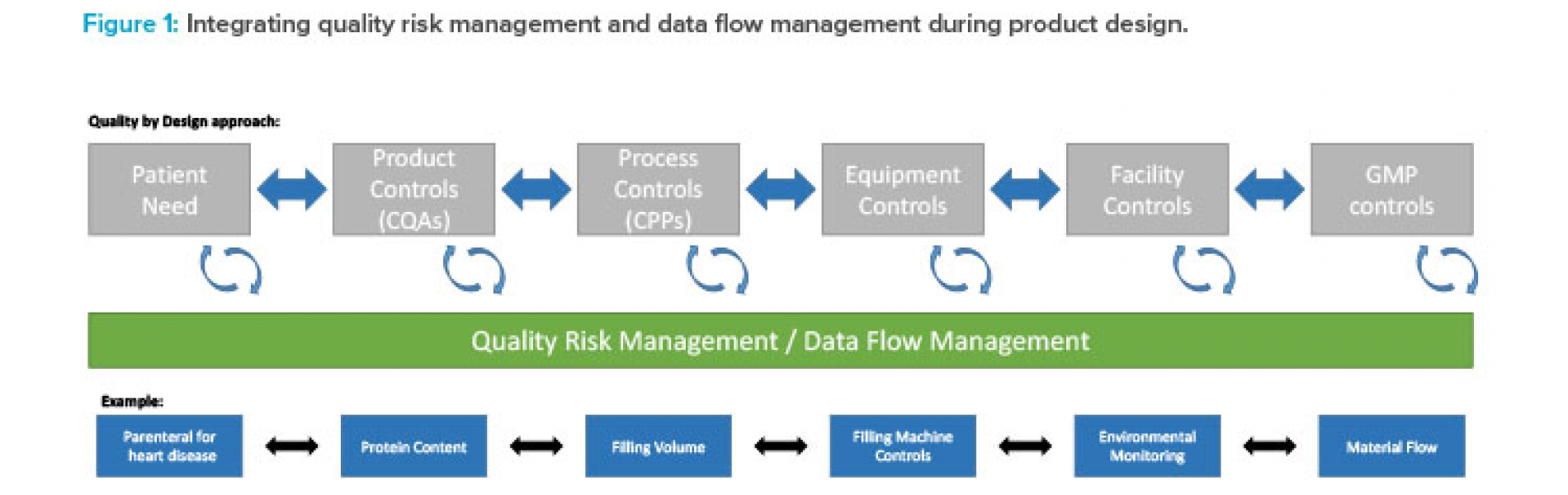 Figure 1: Integrating quality risk management and data flow management during product design.