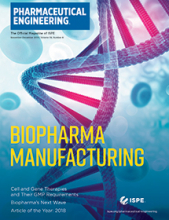 Pharmaceutical Engineering November / December 2019 Cover
