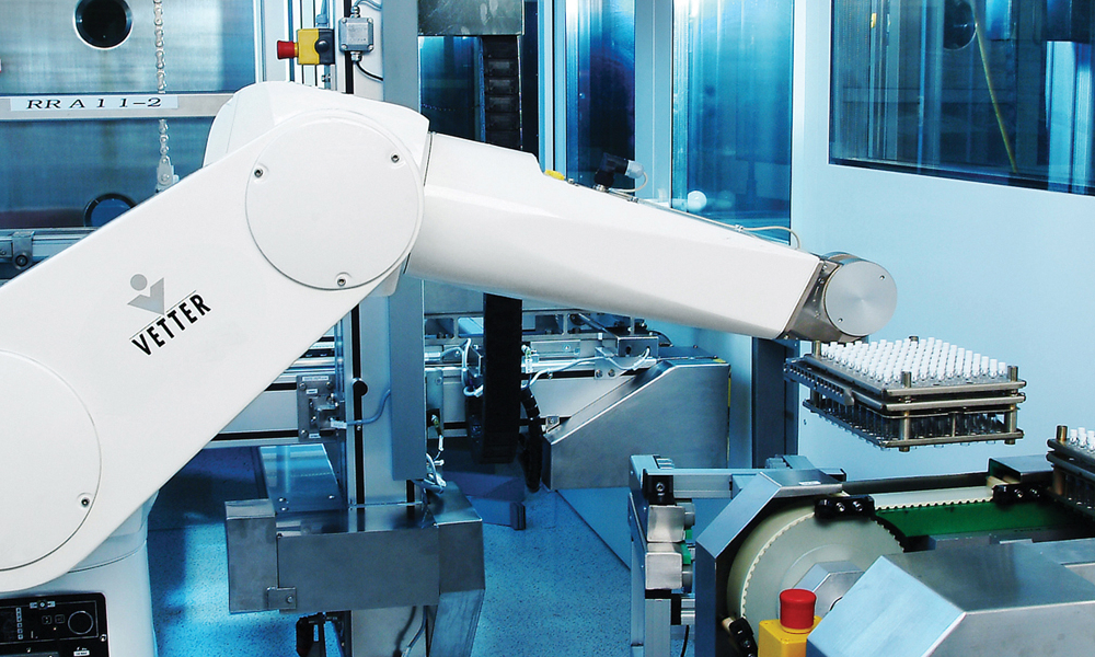Aseptic  processing robotics banner