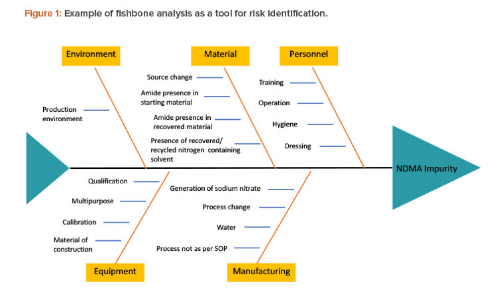 Figure 1: Example of fishbone analysis as a tool for risk identification.