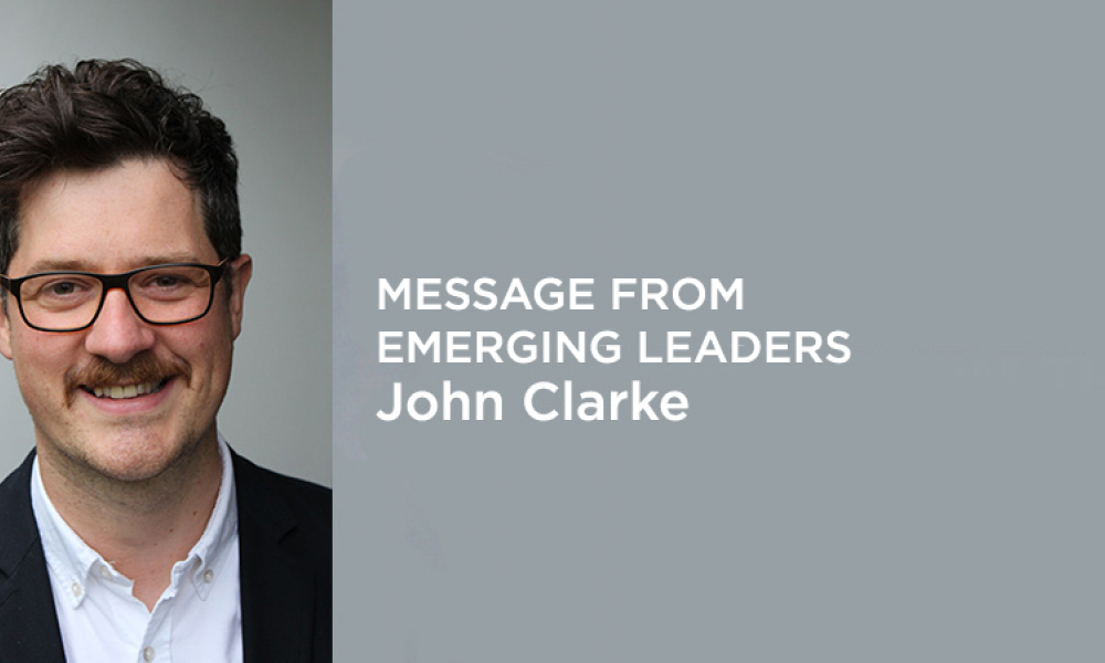 Emerging Leaders Editorial John Clarke Banner