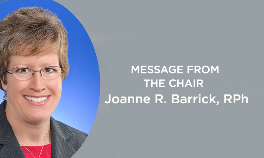 Message from the Chair Joanne R. Barrick banner