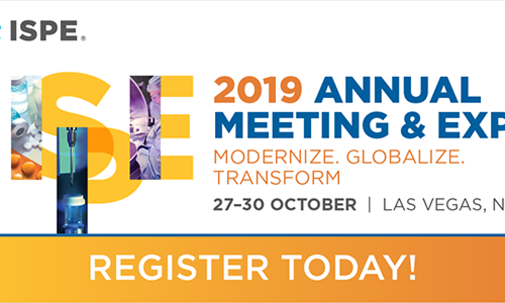 2019 ISPE Annual Meeting & Expo banner