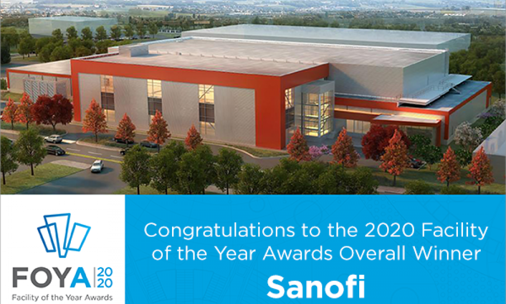 ISPE Names Sanofi the 2020 Facility of the Year Awards Overall Winner